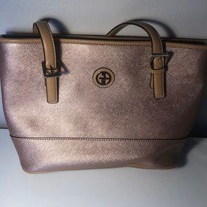 Giani Bernini Metallic Pink Tote Bag